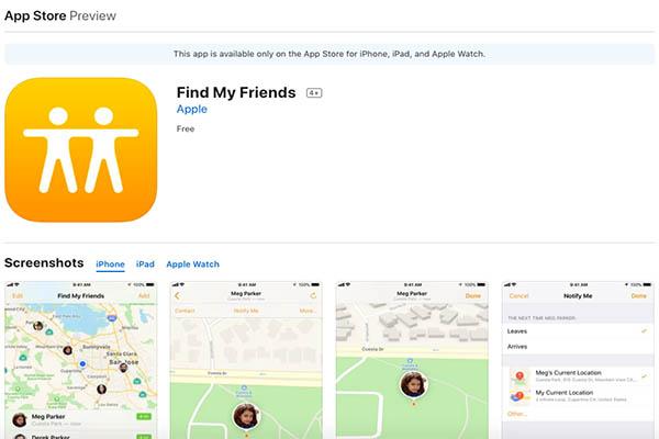 find my friends app